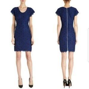 DVF Diane Von Furstenberg Wanda lace dress Sz 12